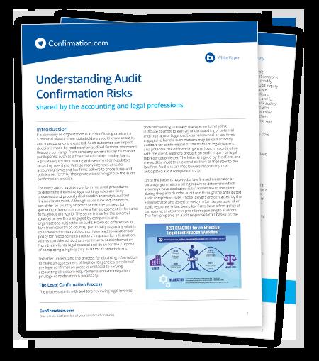 Libro blanco legal: Comprender los riesgos de verificación de auditoría